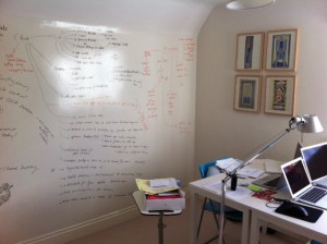 Work from Home Wisdom - office product reviews - whiteboard wall