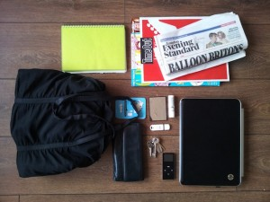 Work from Home Wisdom - working away from home - What's in Your Bag? Kerry Law