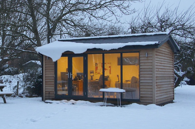 How to make the garden office super cosy for winter work for Winter garden studios