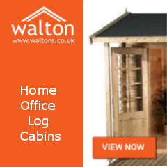 Ad for Waltons - home office log cabins