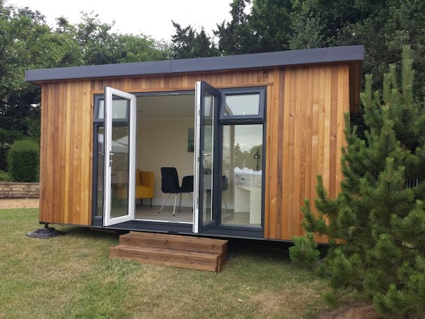 Garden office spotlight august 2015 for Cedar garden office