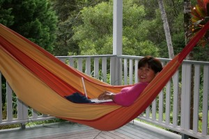 Veronica's hammock - outdoor and mobile home offices