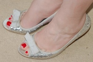 Home workers - Rosie Slosek's sequinned heels