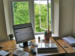 My home office - home working at the mill