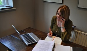 My home office - Lucy Eckley, Blue Penguin Communications
