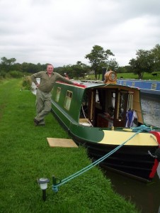 Boatworking with Archie on the canal