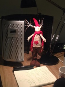 Home office desks - Julie Hall's festive friend