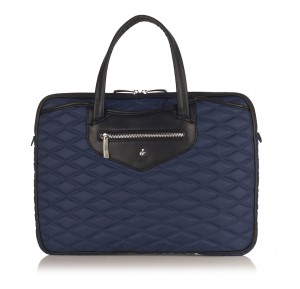 Knomo Charlotte laptop bag in Marine