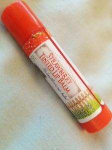 MooGoo Strawberry Tinted Edible Lip Balm