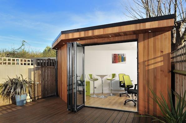 Garden office spotlight garden buildings for home business for Contemporary garden office buildings