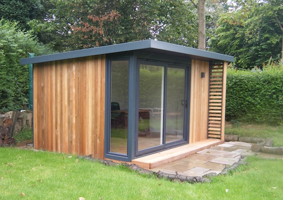 outside home office. home office in garden modren insulated offices vivid green o outside e