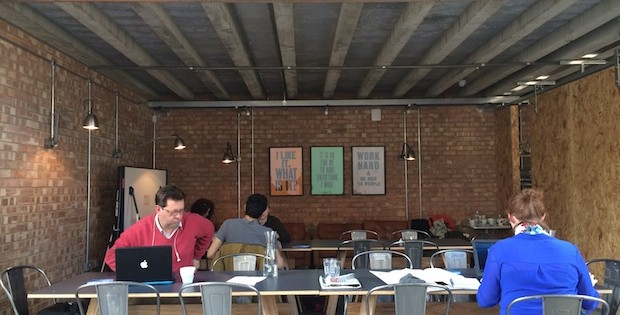 Cafe coworking at Forward, Frome