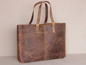 Scaramanga leather shopper tote bag