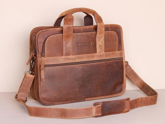 be00a35e0c92 Scaramanga mens Citylander leather laptop briefcase