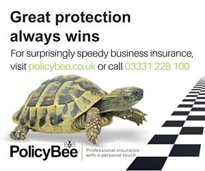 Ad for PolicyBee professional insurance