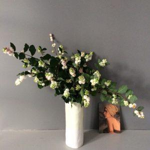 Aerende chartreuse handmade porcelain vase
